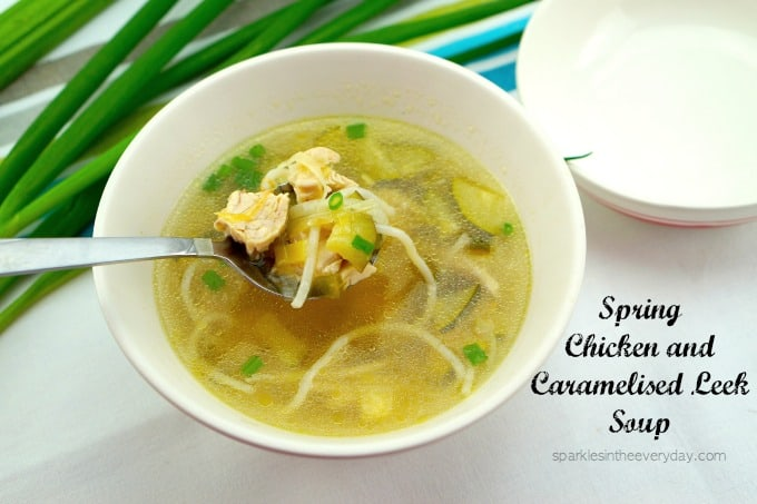 how to cook leeks in chicken soup