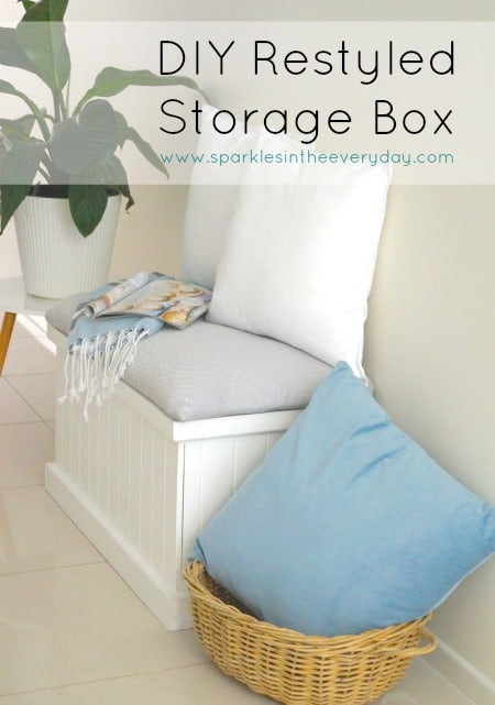 The perfect bench from a restyled Storage Box!