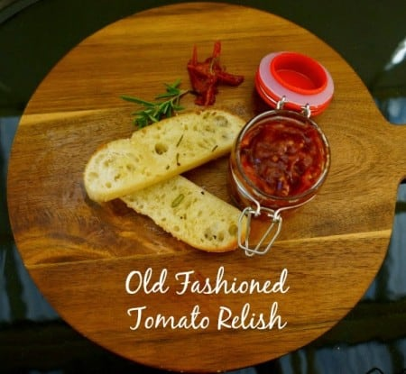 Old Fashioned Tomato Relish GF