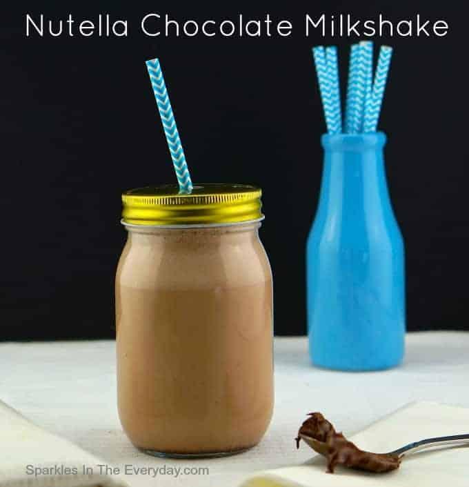 Nutella Chocolate Milkshake