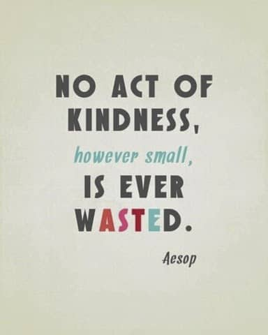 Acts of kindness….
