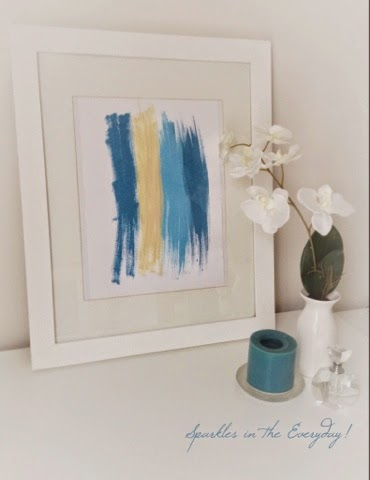 An easy way to add a pop of colour…..