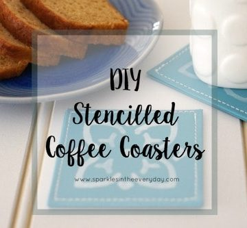 The tips to making DIY Stencilled Coffee Coasters