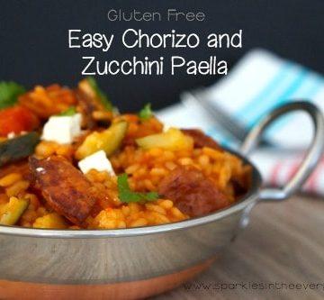 Easy Chorizo and Zucchini Paella!