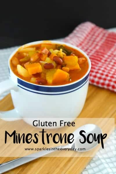 Gluten Free Minestrone Soup...easy, healthy and delicious