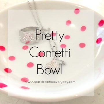 DIY Pretty Confetti Bowl