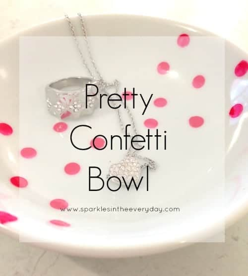 DIY Pretty Confetti Bowl