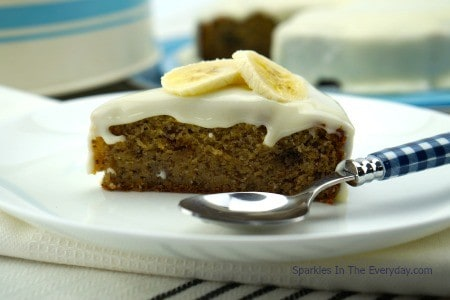 The best gluten free banana cake slice