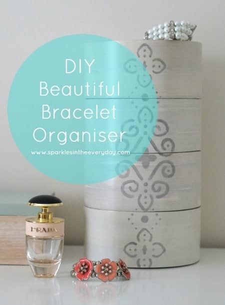 DIY Beautiful Bracelet Organiser - thrifty and useful!