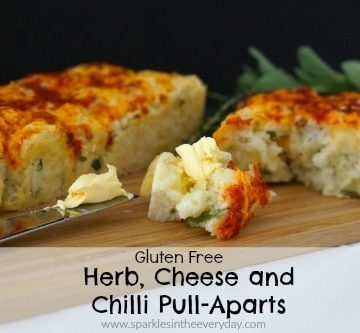 Gluten Free Herb, Cheese and Chilli Pull-Aparts!!