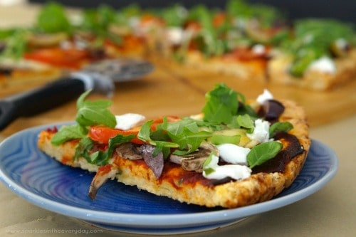 Rocket, Mozzarella, Goats Cheese Gluten Free Pizza Base Recipe!