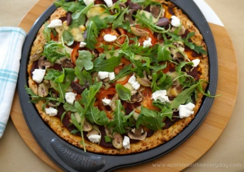 Rocket, Mozzarella and Goats Cheese Gluten Free Pizza Recipe!