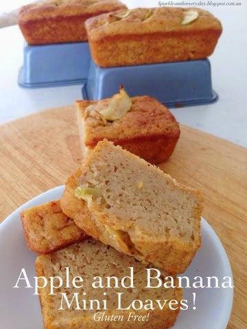 Apple and Banana Mini Loaves!