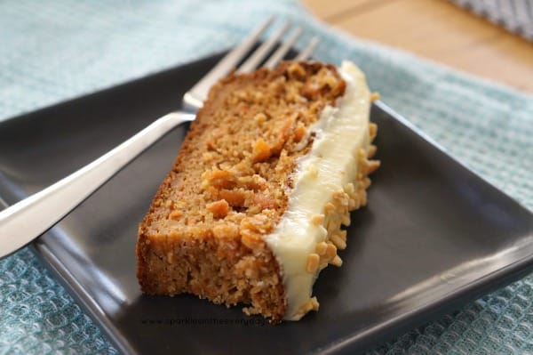 A delicious slice of Gluten Free Almond and Carrot Cake!