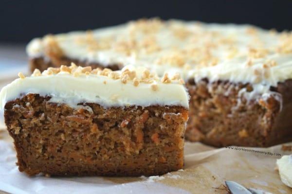 Gluten Free Almond and Carrot Cake recipe!