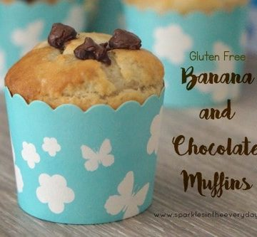 Gluten Free Banana and Chocolate Muffins ...easy and delicious!