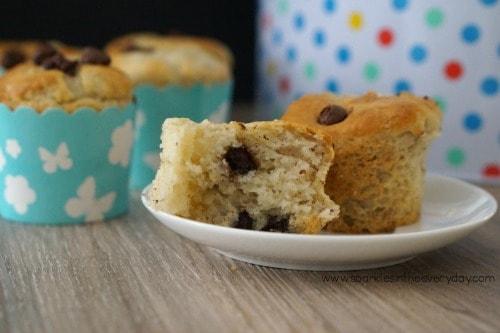 Gluten Free Banana and Chocolate Muffins ...easy to make!