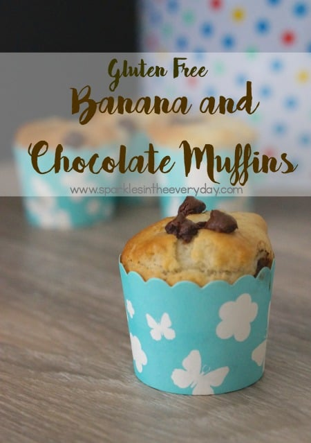 Gluten Free Banana and Chocolate Muffins!!