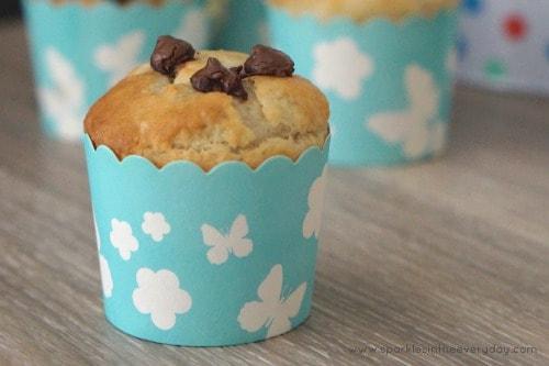 Gluten Free Banana and Chocolate Muffins