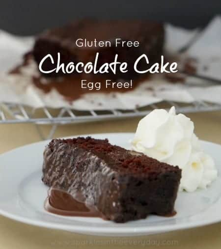Easy Gluten Free, Egg Free Chocolate Cake
