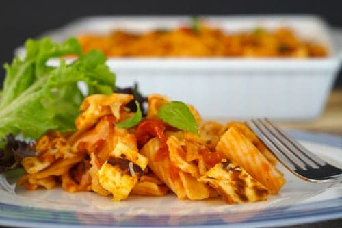 Halloumi and Gluten Free Pasta Bake