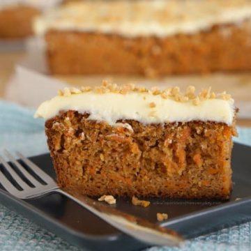 Moist Gluten Free Almond and Carrot Cake recipe!