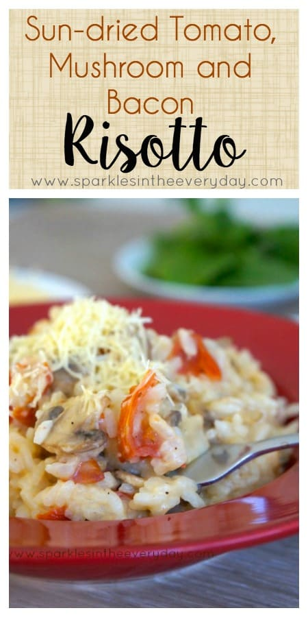 Delicious Sun-dried Tomato, Mushroom and Bacon Risotto recipe!