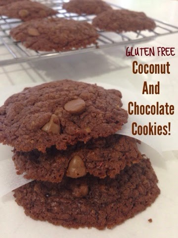 Gluten Free – Coconut and Chocolate Cookies!!