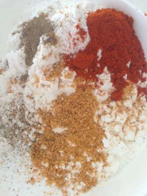 spicy flour mix for gluten free chicken tenders