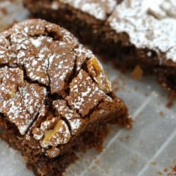 A slice of Easy Gluten Free Chocolate Brownies recipe