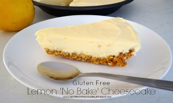 Lemon 'No Bake' Cheesecake – Gluten Free!!