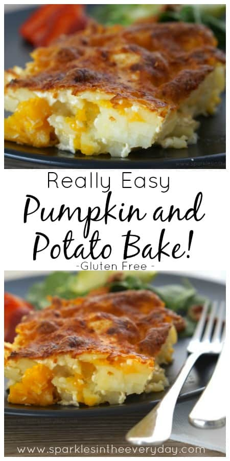 Really Easy Pumpkin and Potato Bake recipe! (GF)