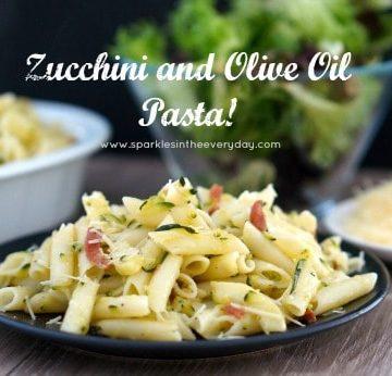 Zucchini and Olive Oil Pasta! GF