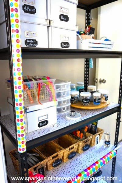 easy and thrifty tips for DIY - Organised Craft Storage