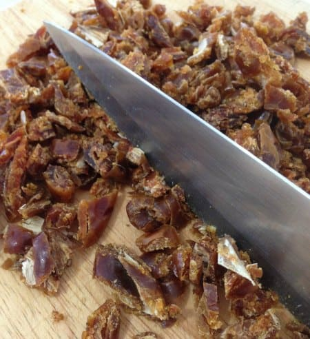 cutting Dates for Sticky Date Puddings with Caramel Sauce - Gluten Free