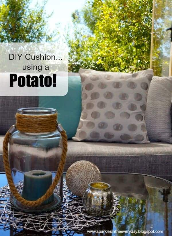 DIY Cushions...using a Potato!