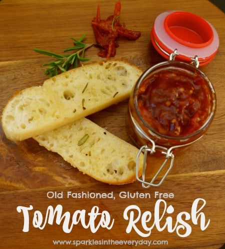 Old Fashioned, Gluten Free Tomato Relish