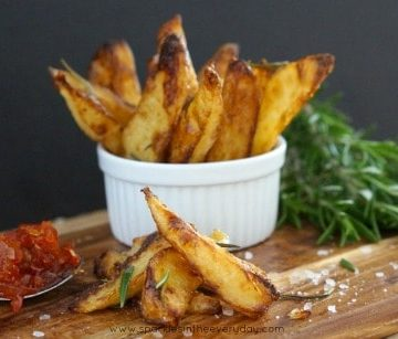 Delicious and Crispy Homemade Rosemary and Sea Salt Wedges!