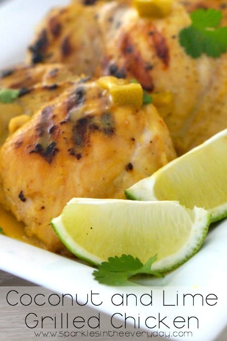 Coconut and Lime Grilled Chicken - Gluten Free too!