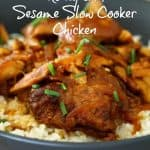 Gluten Free Honey and Sesame Slow Cooker Chicken Recipe!