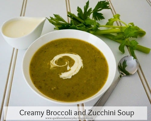 Broccoli and Zucchini Soup