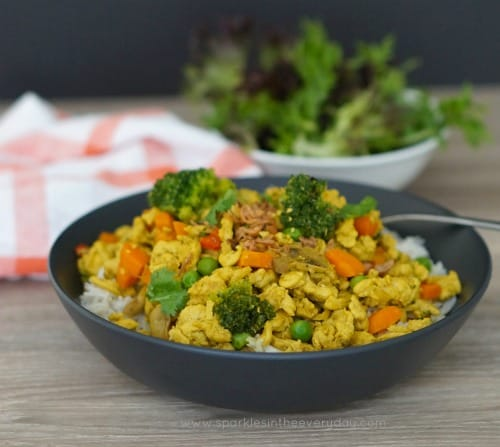 Easy Curried Minced Chicken