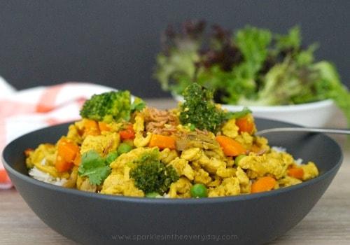 Gluten Free Curried Minced Chicken Recipe