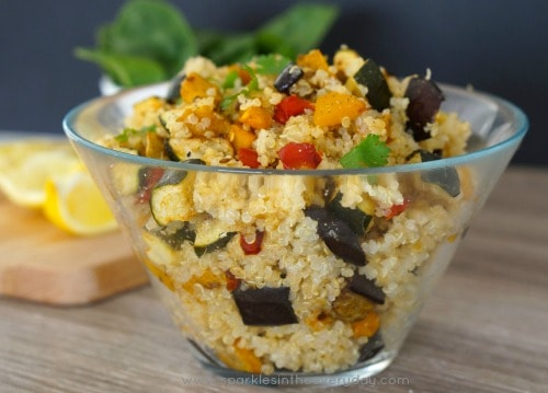 Moroccan Quinoa and Vegetables - Healthy and Gluten Free!