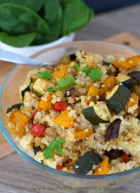 Moroccan Quinoa and Roasted Vegetables! (GF)