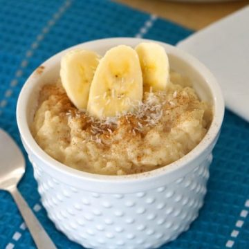 Almond and Coconut Gluten Free Rice Pudding