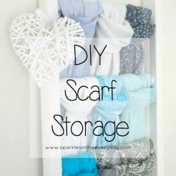 DIY Easy Scarf Storage!