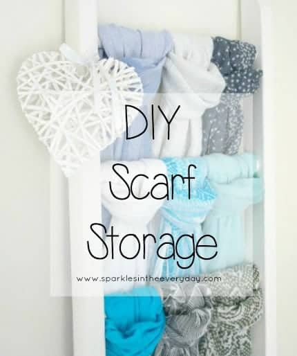 DIY Easy Scarf Storage!