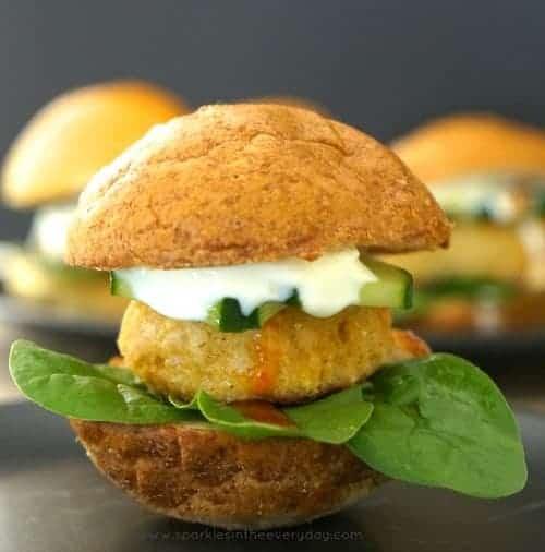Chicken Madras Burgers - Gluten Free!