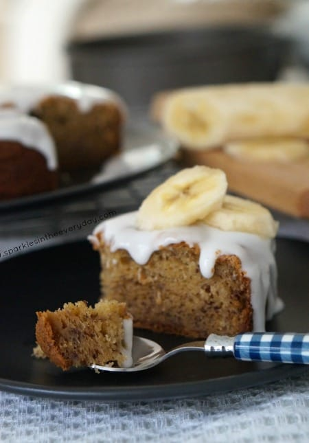 A spoonful of The Best Gluten Free Banana Cake Ever!
